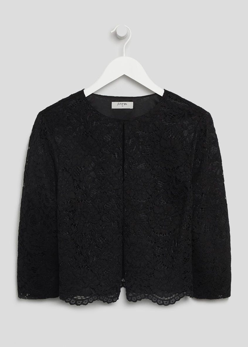 Soon Lace Cropped Occasion Jacket