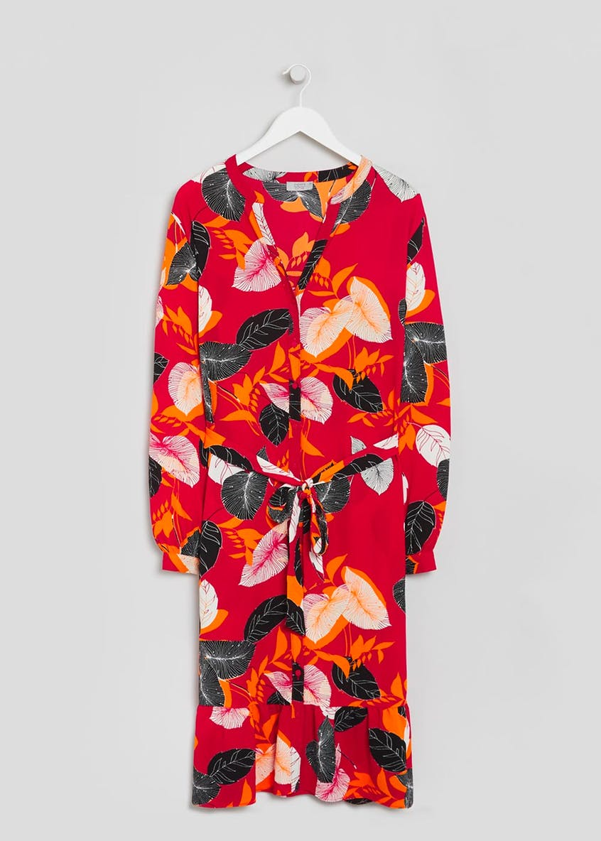 Papaya Curve Floral Midi Dress