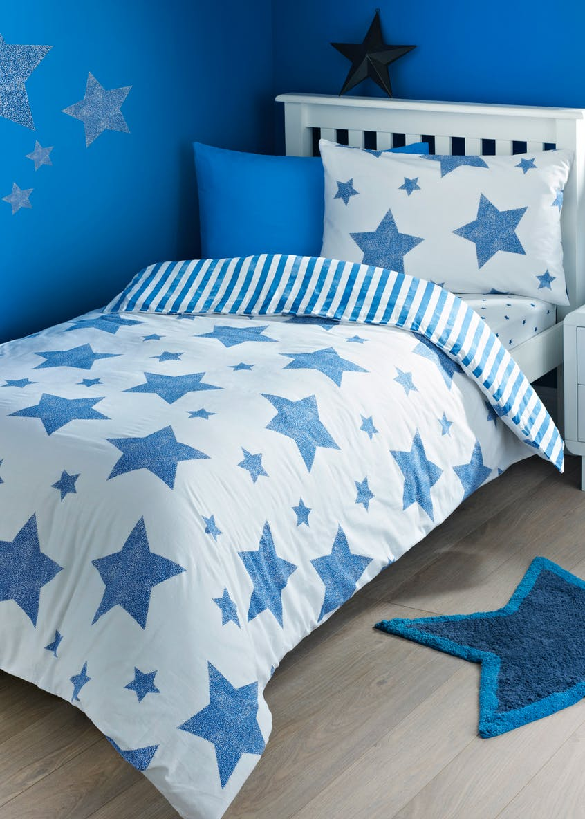 Kids 2 Pack 100  Cotton Star Duvet Covers