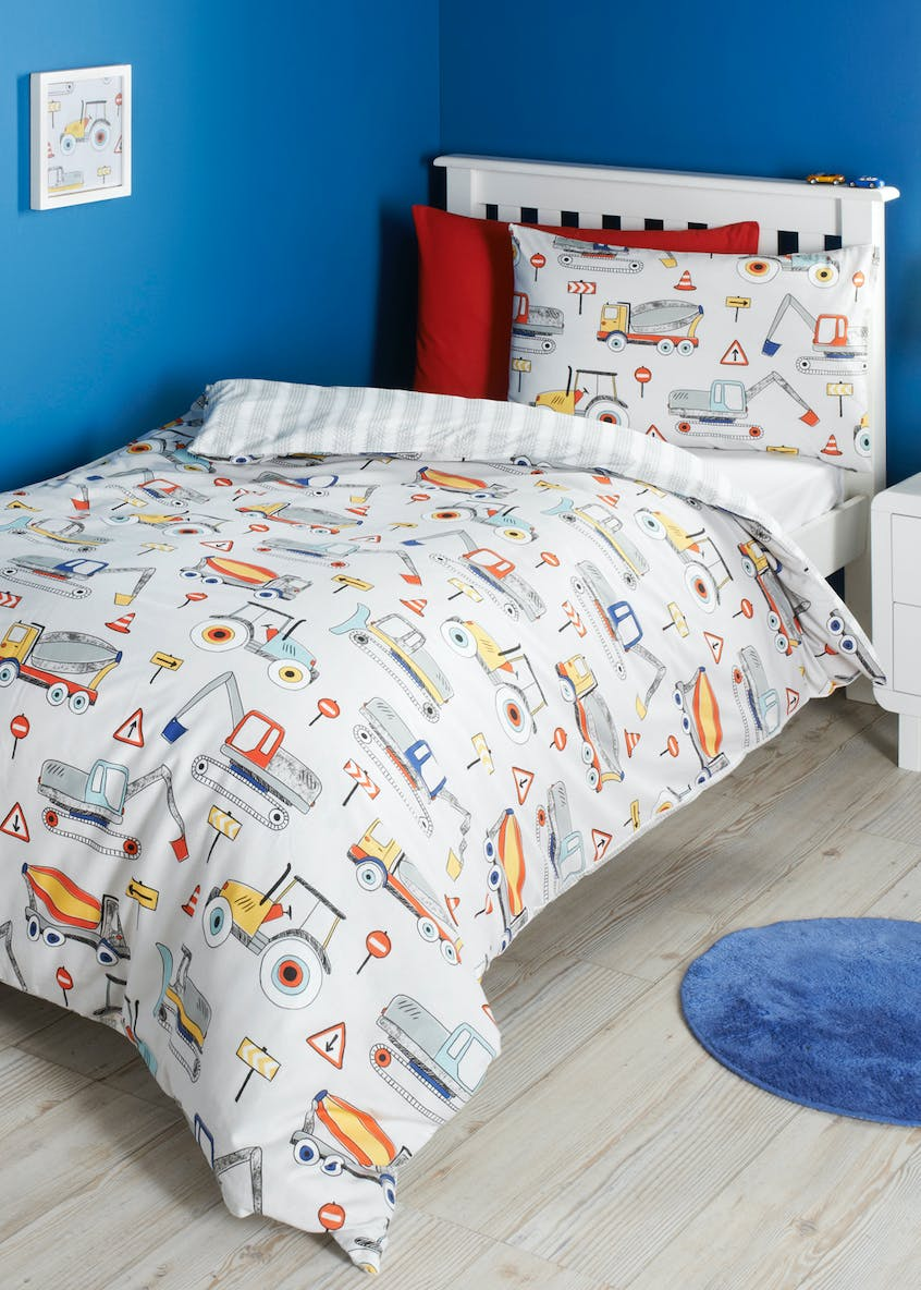 Kids 100  Cotton Digger Print Duvet Cover