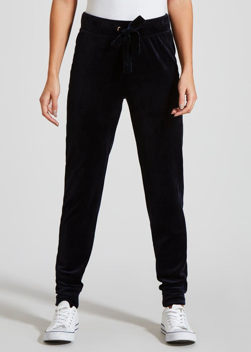 Velour Cuffed Jogging Bottoms