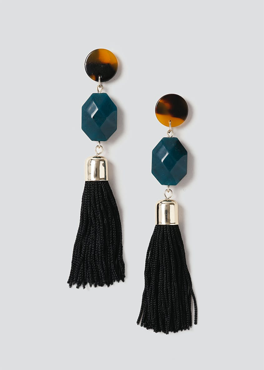 Bead Tassel Drop Earring