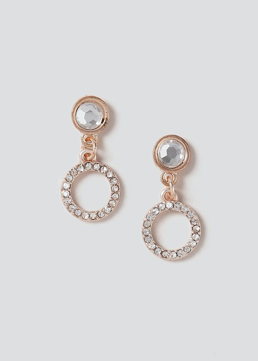 Mini Rhinestone Circle Earring