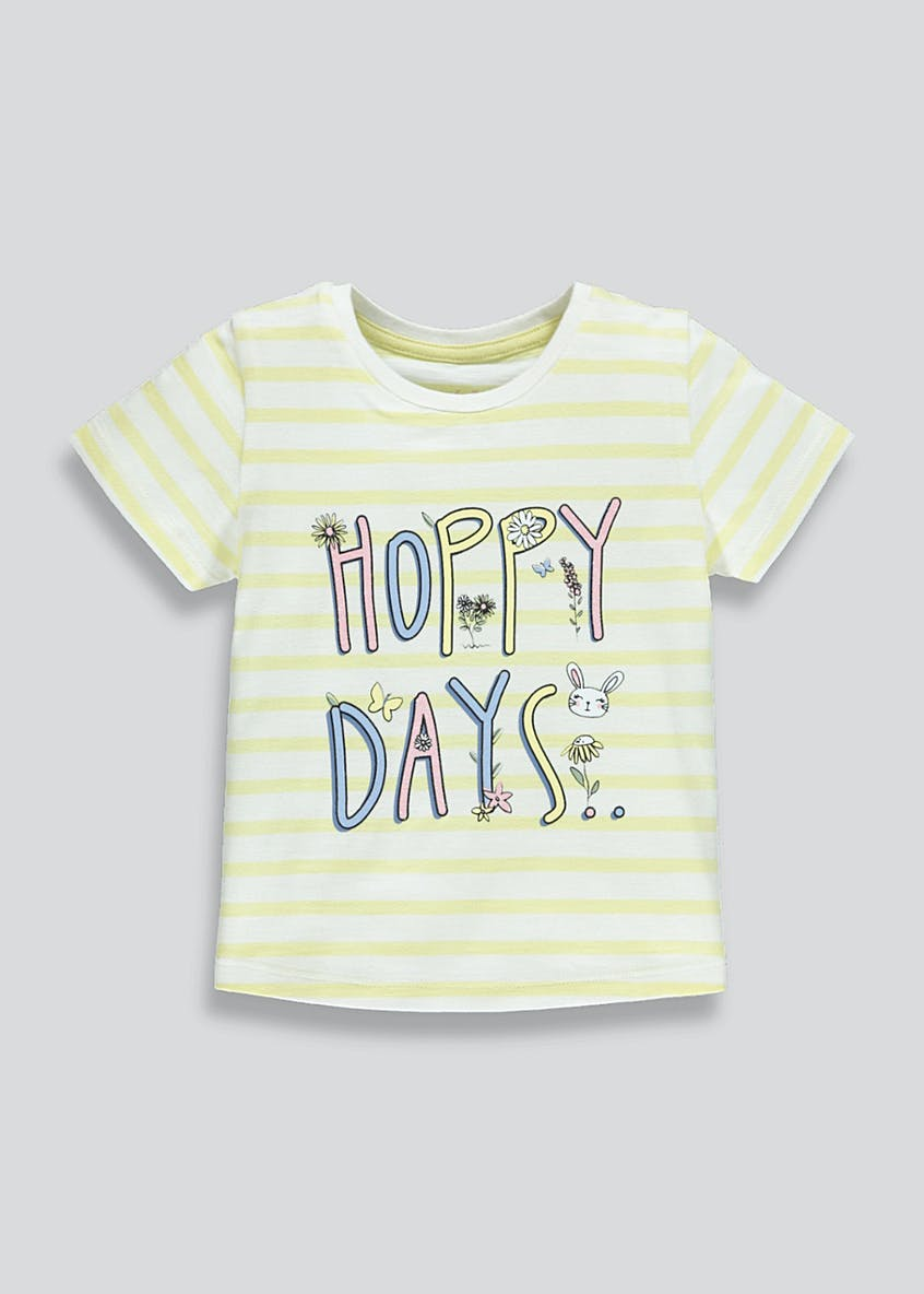 Girls Hoppy Days Slogan T-Shirt (9mths-6yrs)