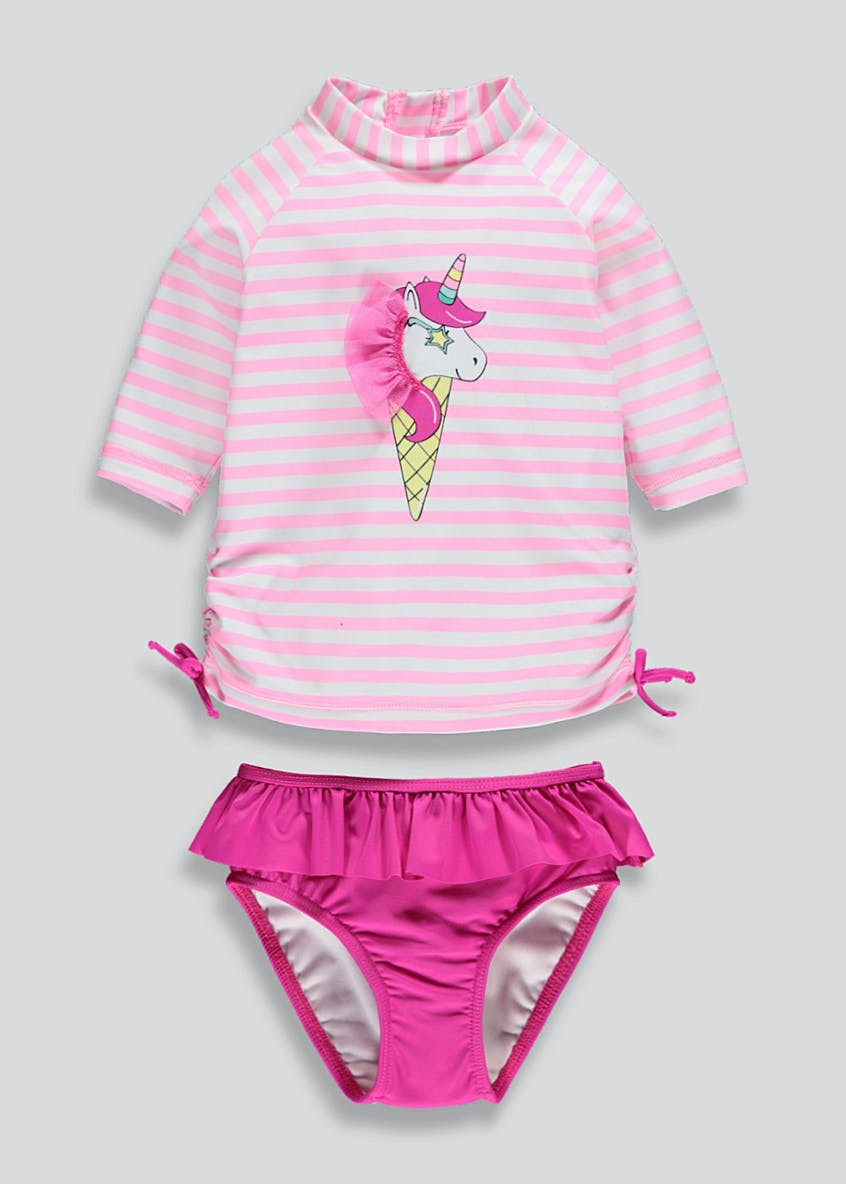 Girls 2 Piece Unicorn Surf Suit (9mths-6yrs)