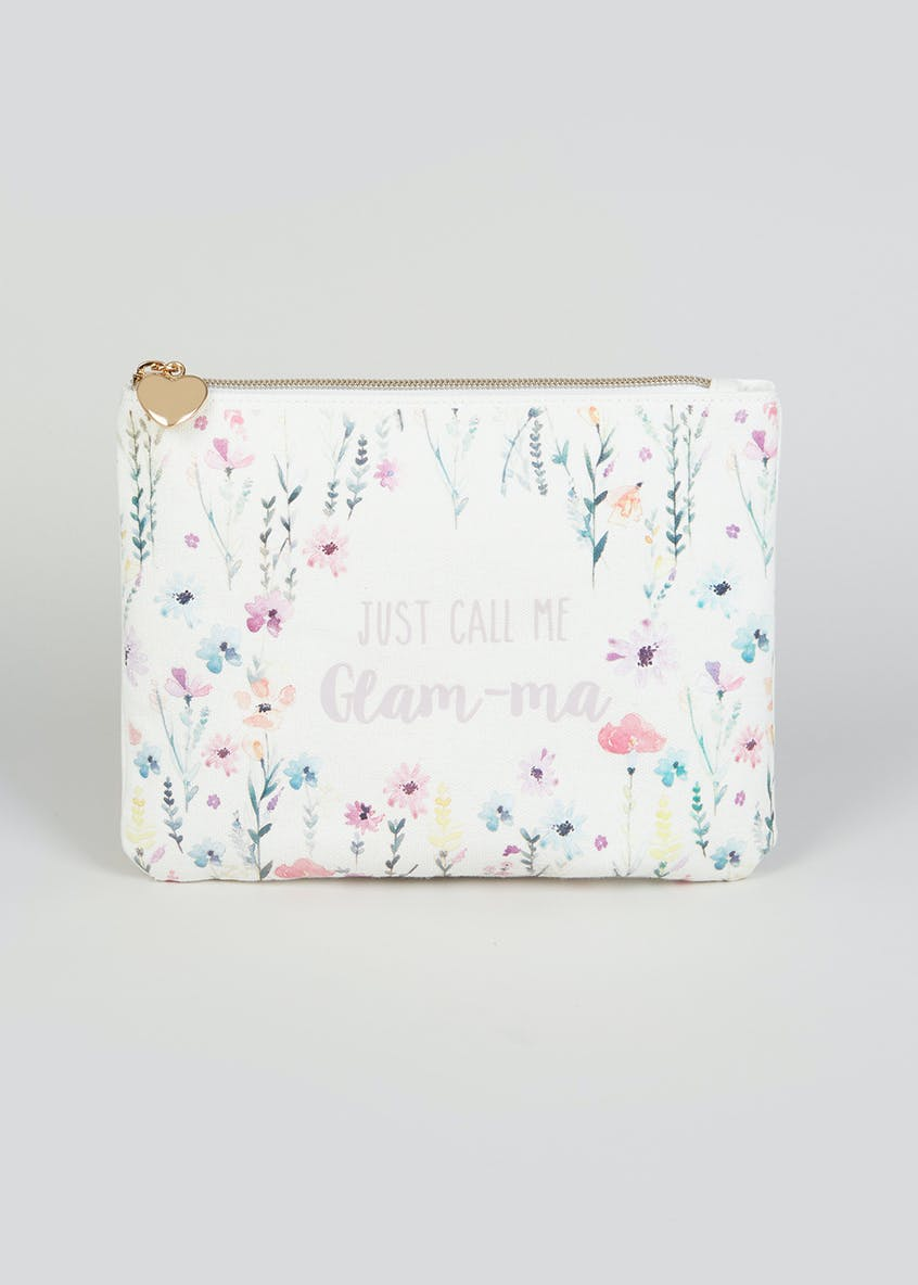Grandma Slogan Canvas Makeup Bag (22cm x 17cm x 2cm)