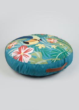 Tropical Circular Floor Cushion (59cm x 59cm)