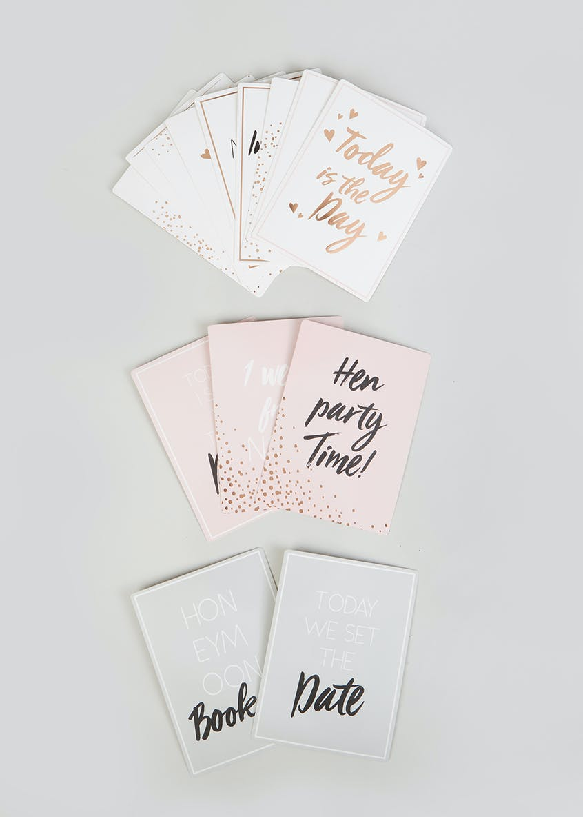 Bride & Groom Wedding Milestone Cards (15cm x 12cm x 2cm)