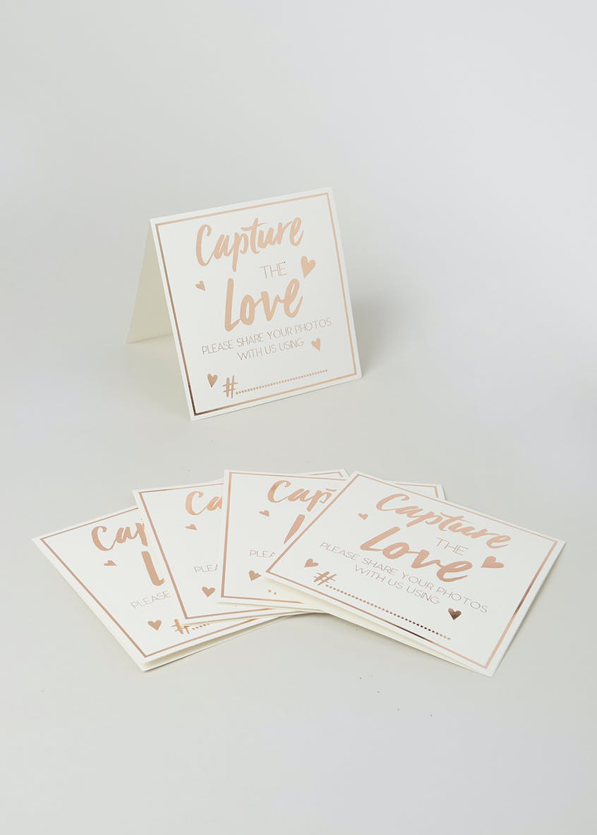 Wedding Day Instagram Hashtag Signs (13cm x 13cm)