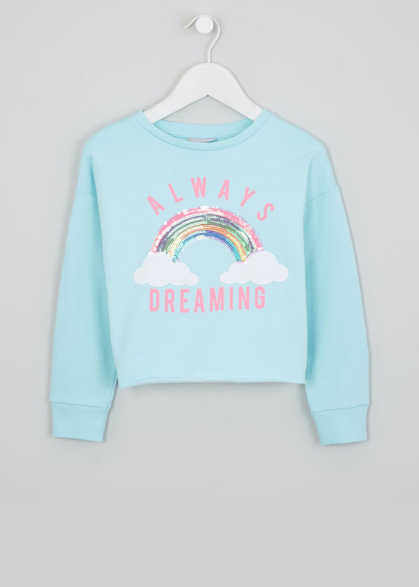 Girls Sequin Rainbow Sweatshirt (4-13yrs)