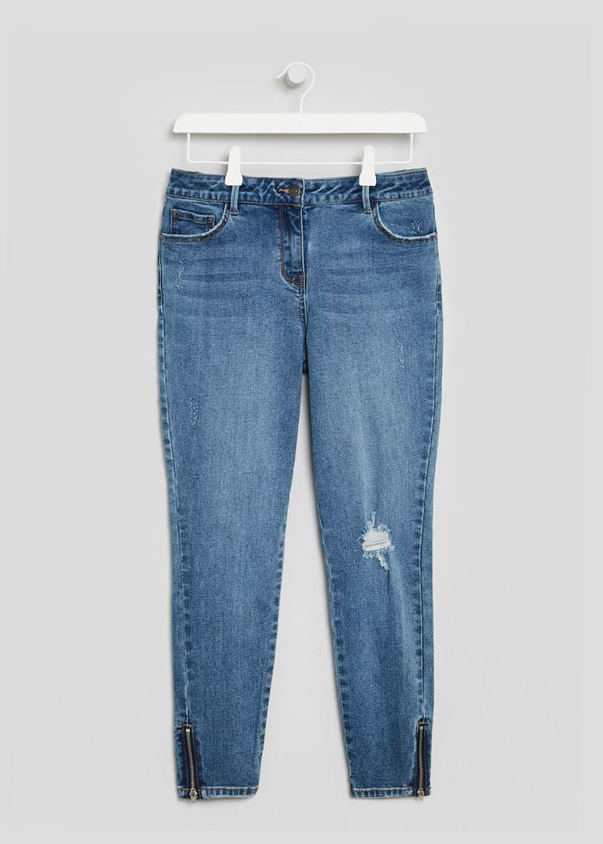 April Zip Hem Super Skinny Ankle Grazer Jeans