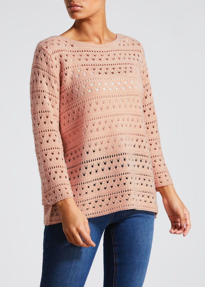 Pointelle Wide Sleeve Jumper