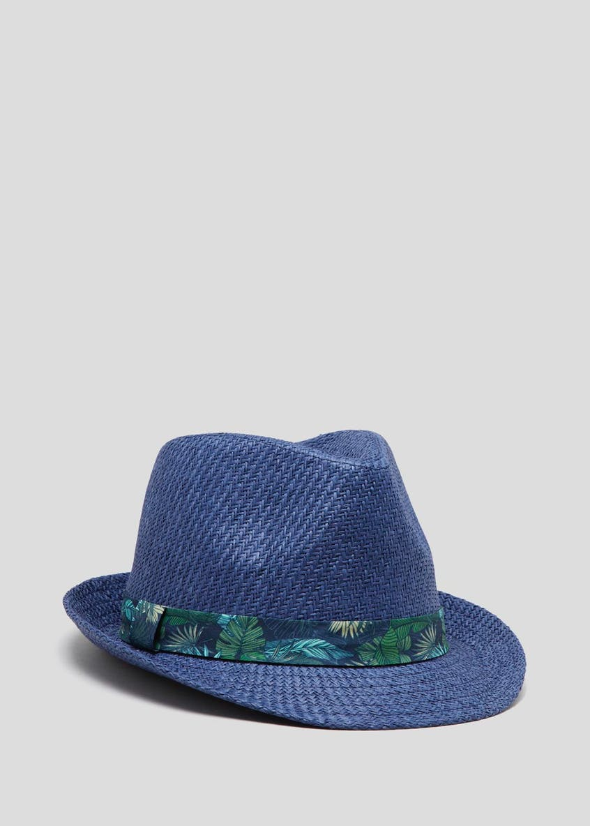 Tropical Leaf Band Straw Hat