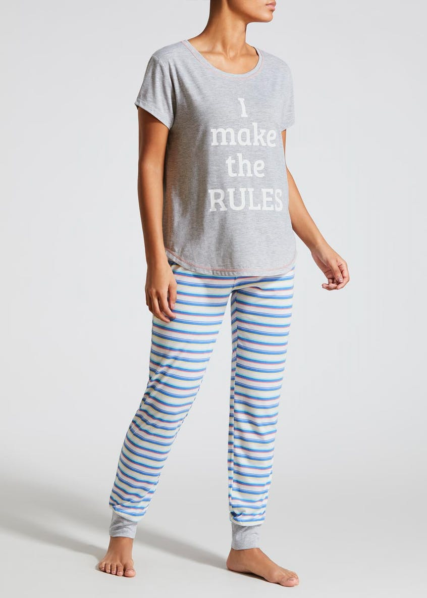 Rules Slogan Pyjama Set