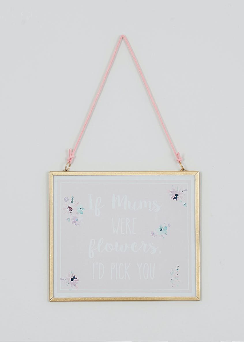 Mum Slogan Hanging Sign (15cm x 13cm x 0.5cm)