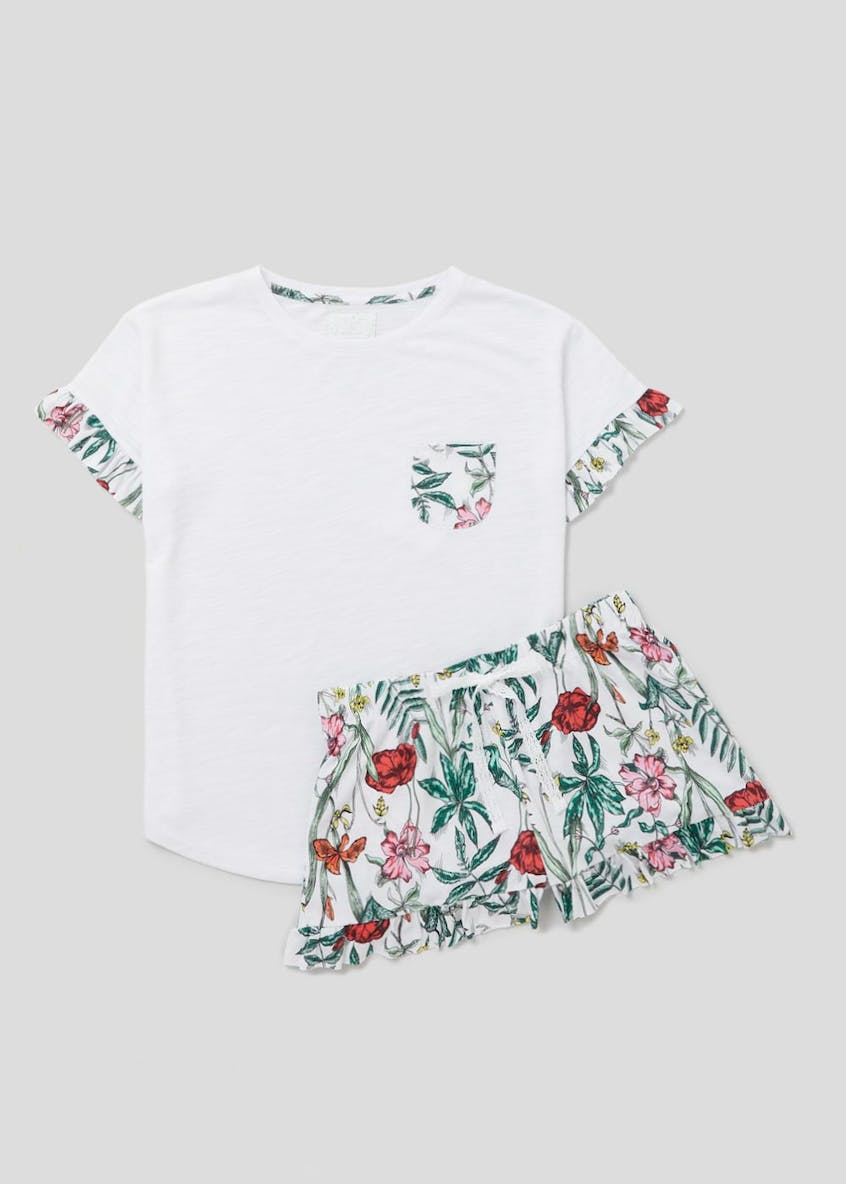 Poppy Print Short Pyjama Set