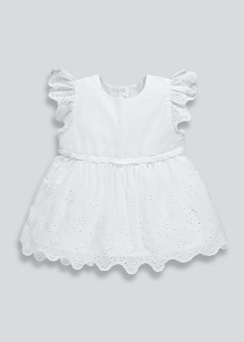 Girls Broderie Anglaise Blouse (9mths-6yrs)