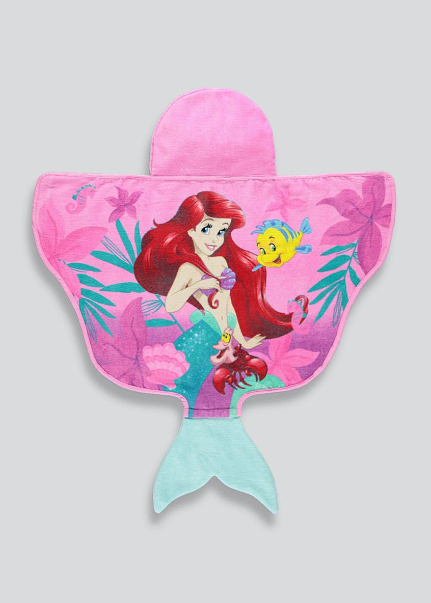 Kids Disney Ariel Hooded Towel Poncho (One Size)