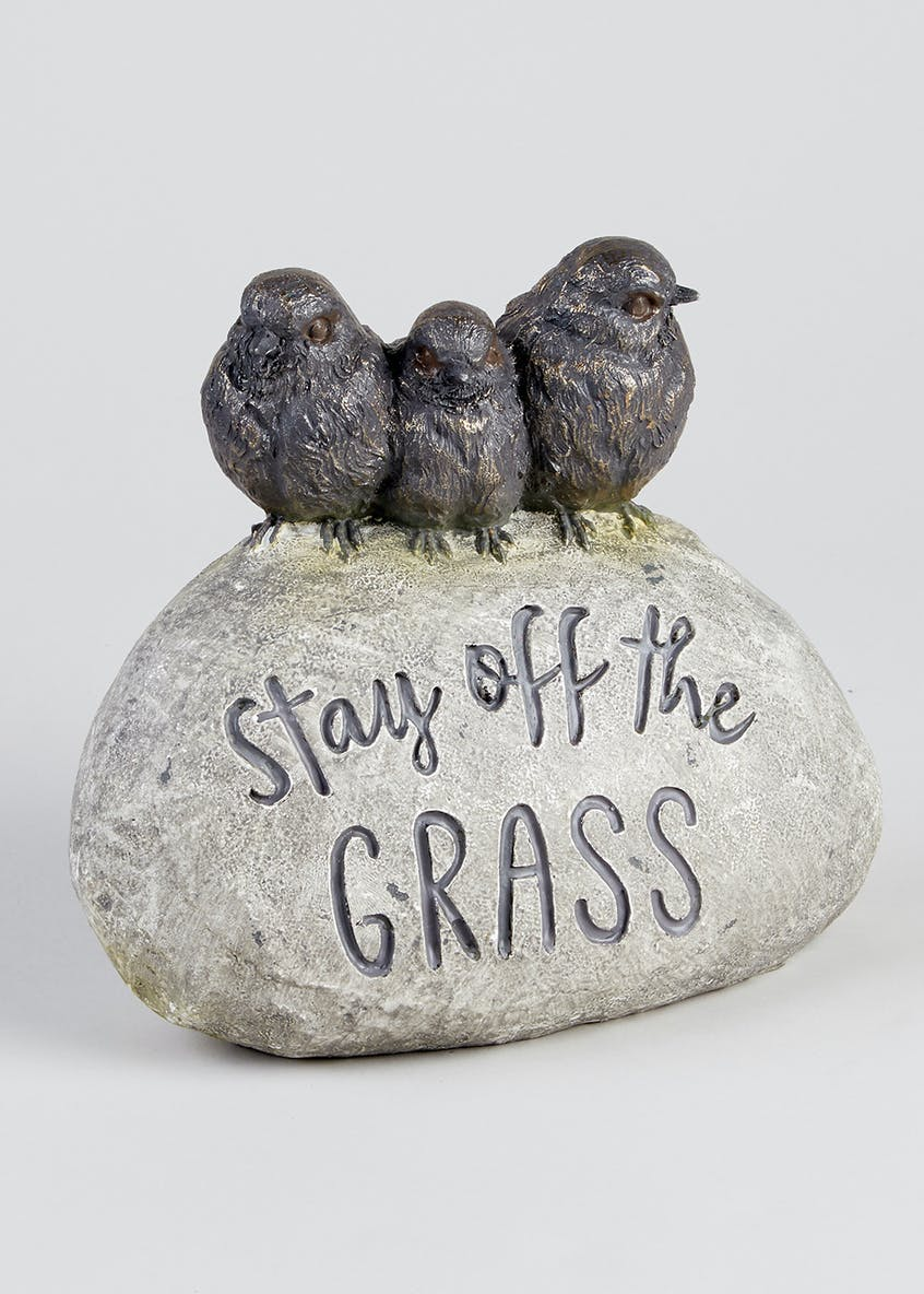 Stay off the Grass Bird Ornament