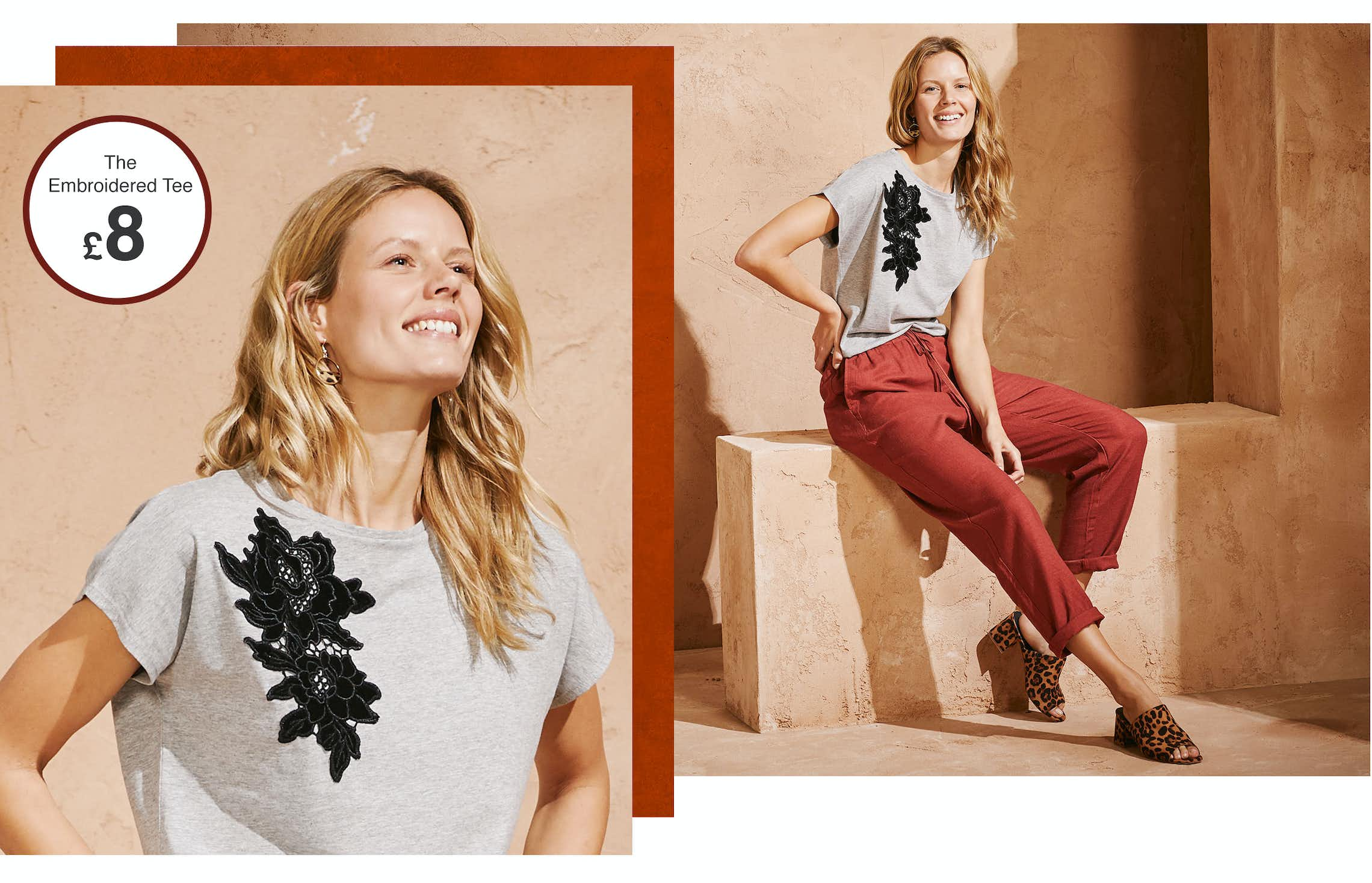 Shop Embroidered & Tops T-Shirts