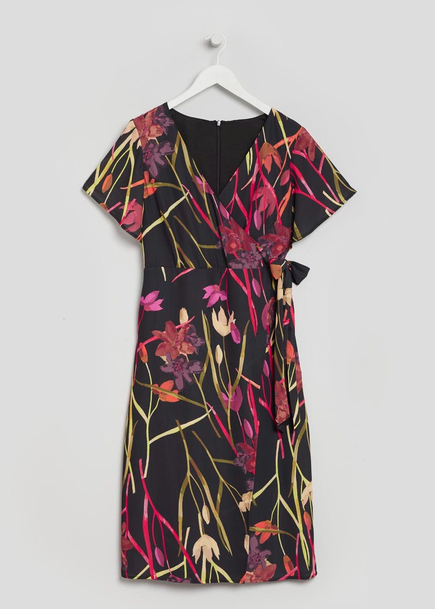 Soon Tulip Midi Wrap Dress