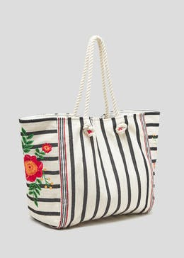 Stripe Floral Rope Tote Bag eb8f400944075