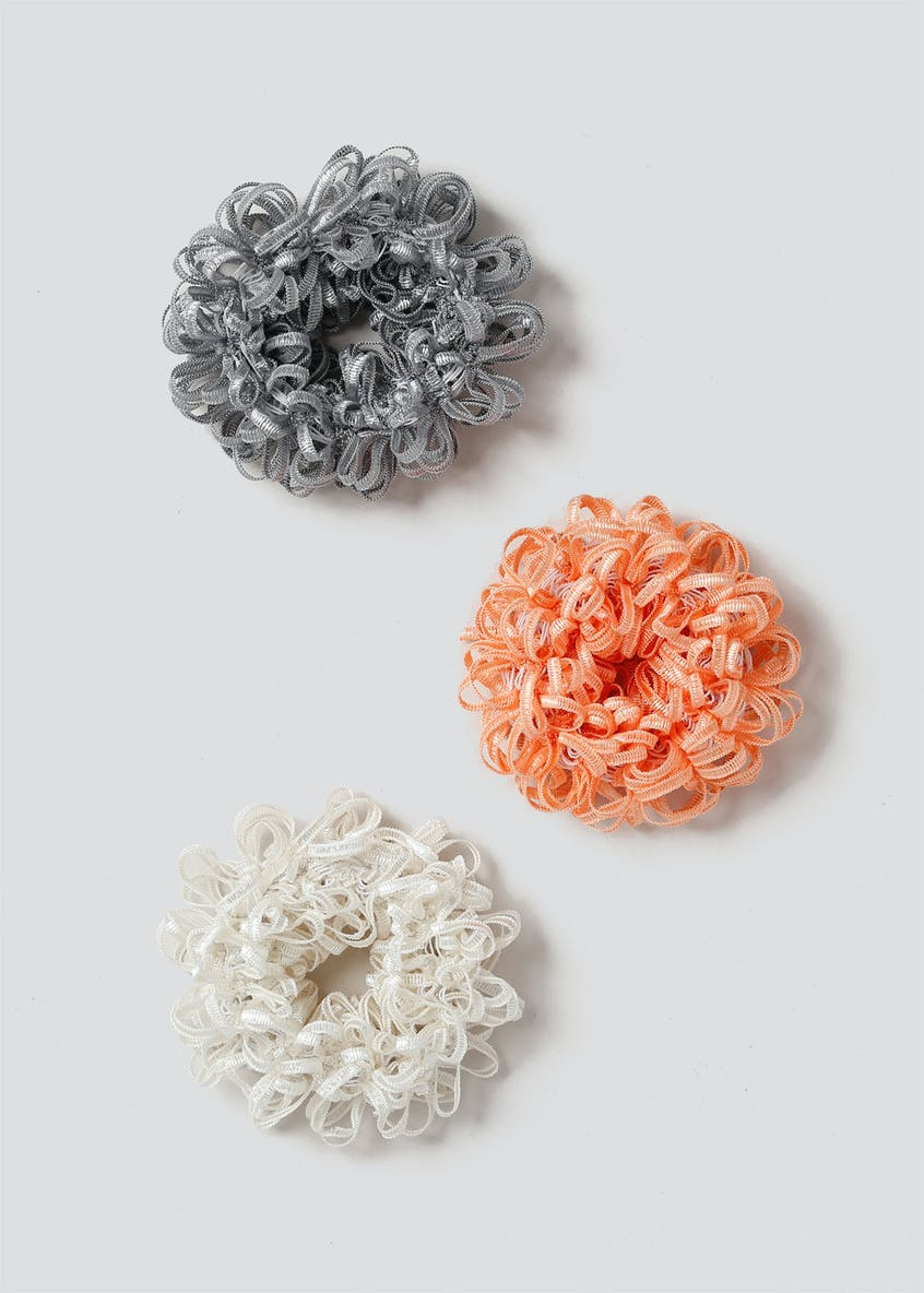 3 Pack Ruffle Hair Scrunchie