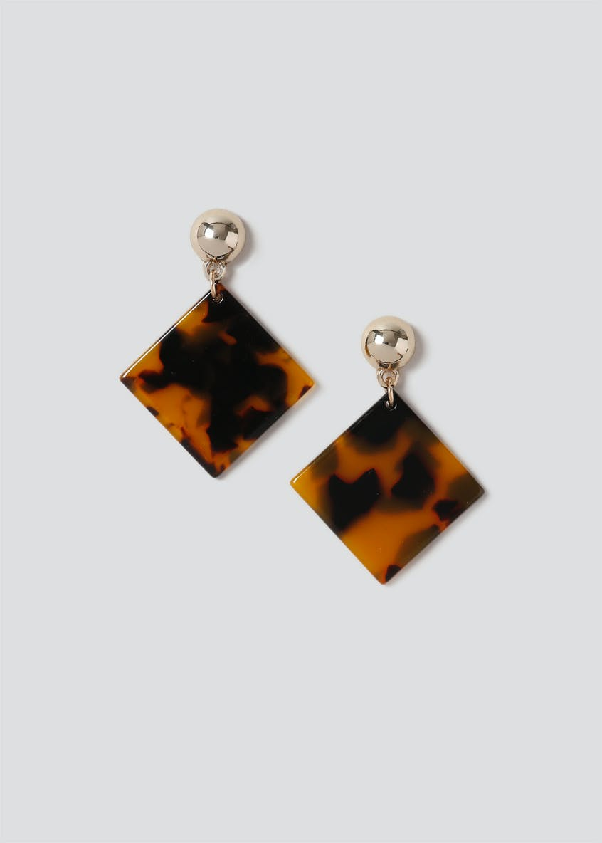 Diamond Tortoiseshell Drop Earring