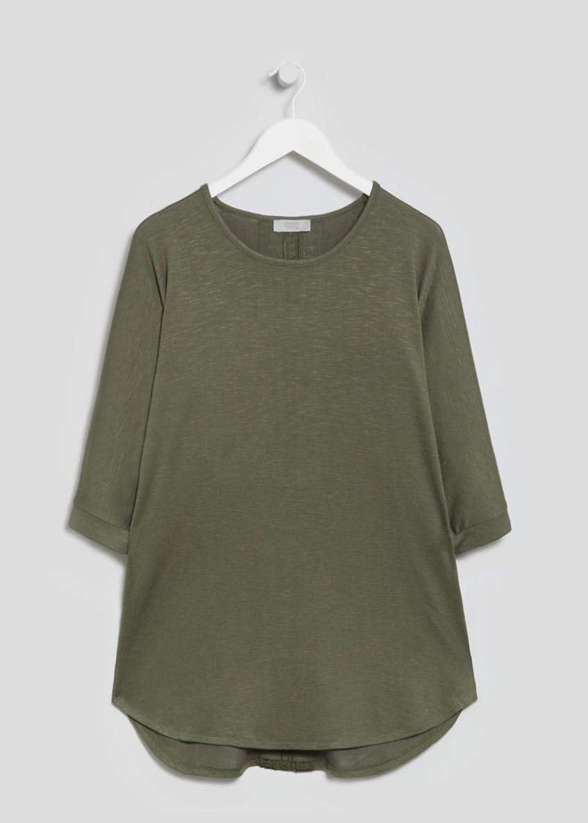 Papaya Curve Oversized Curved Hem T-Shirt