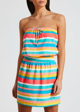0cdc8bc1ef5 Stripe Bandeau Beach Dress