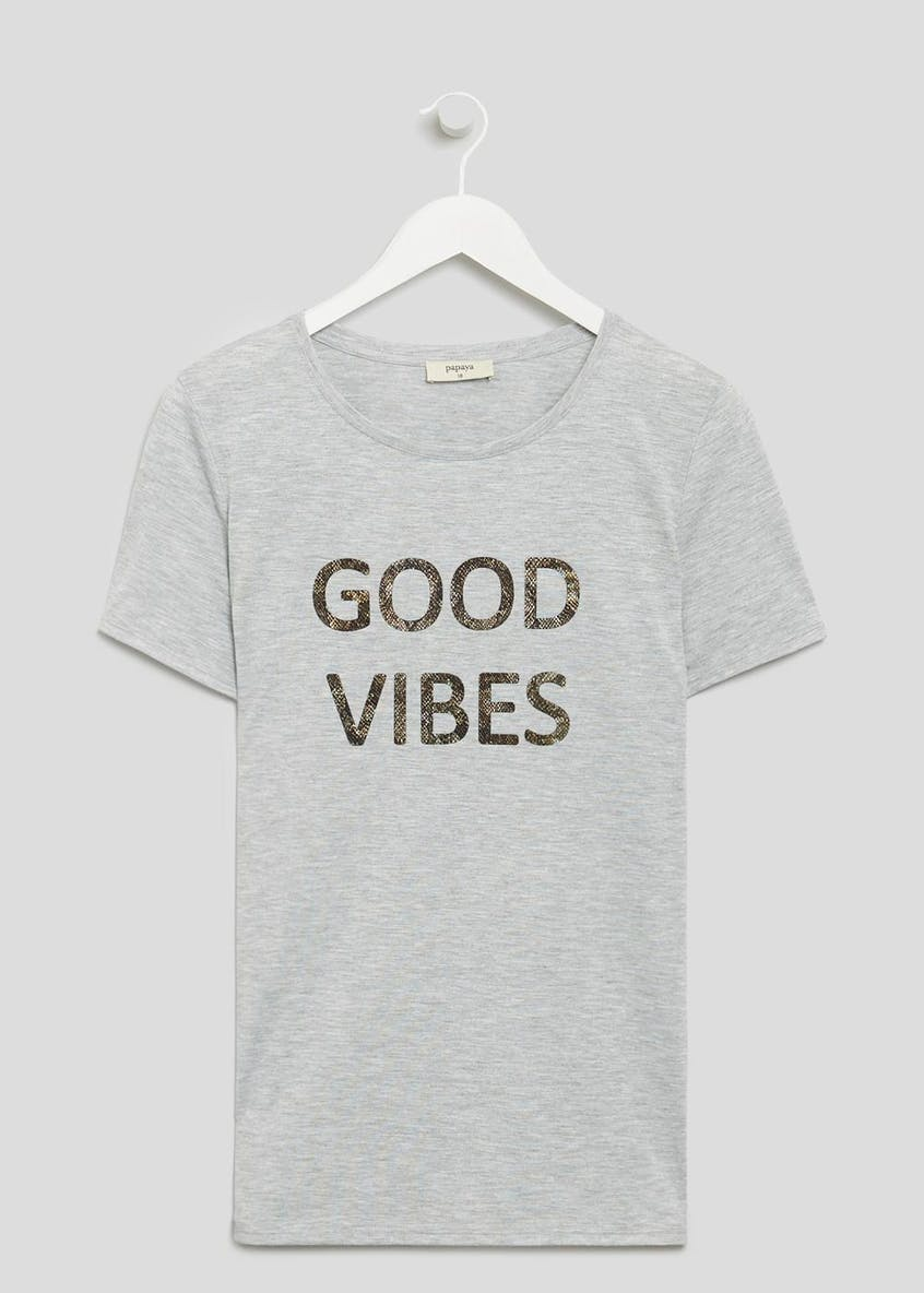 Good Vibes Slogan T-Shirt