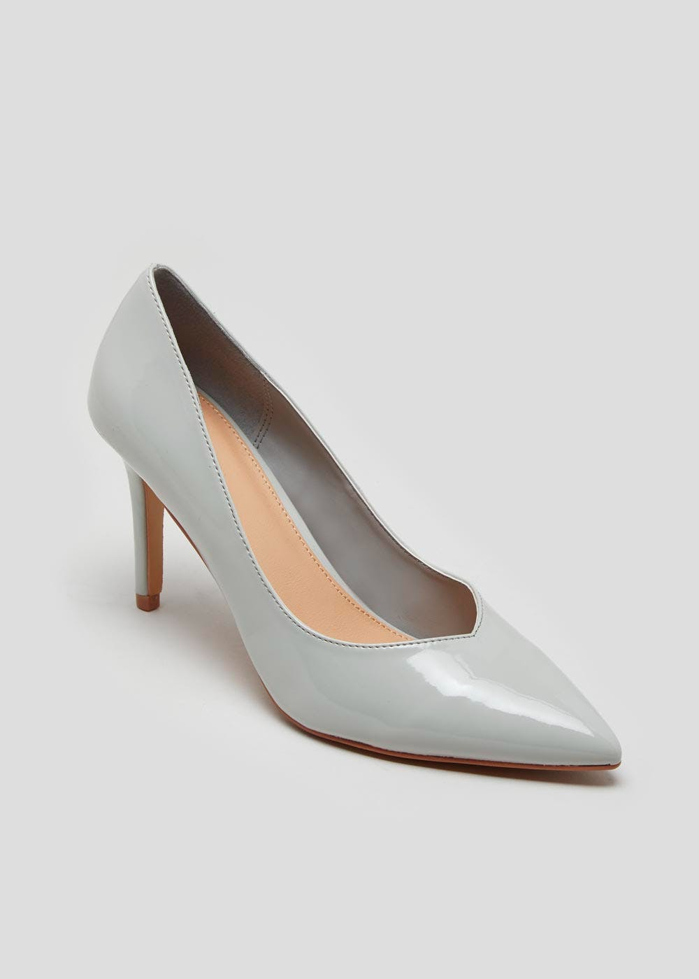 a6c102a589a Patent Pointed Court Shoes