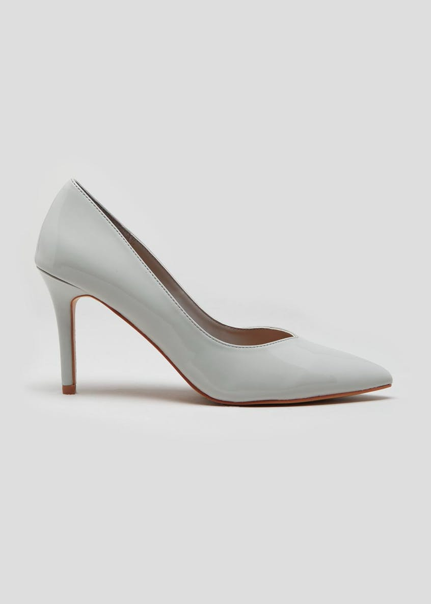 Patent Pointed Court Shoes