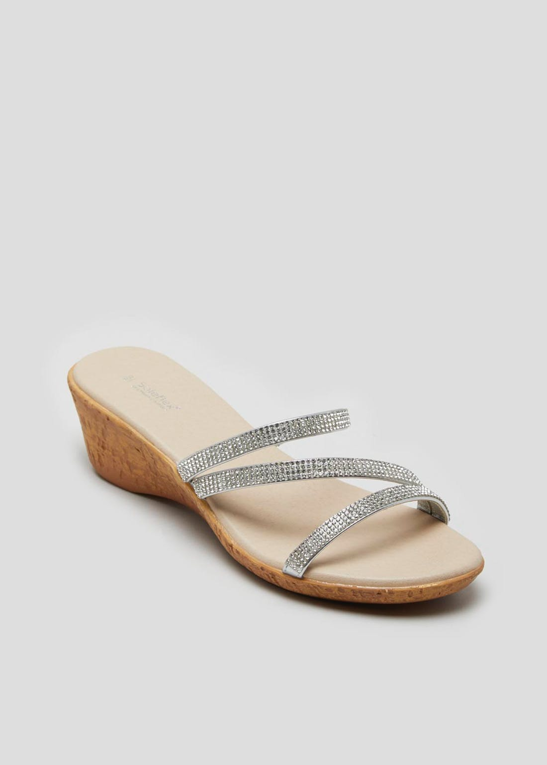 Soleflex Diamante Wedge Sandals