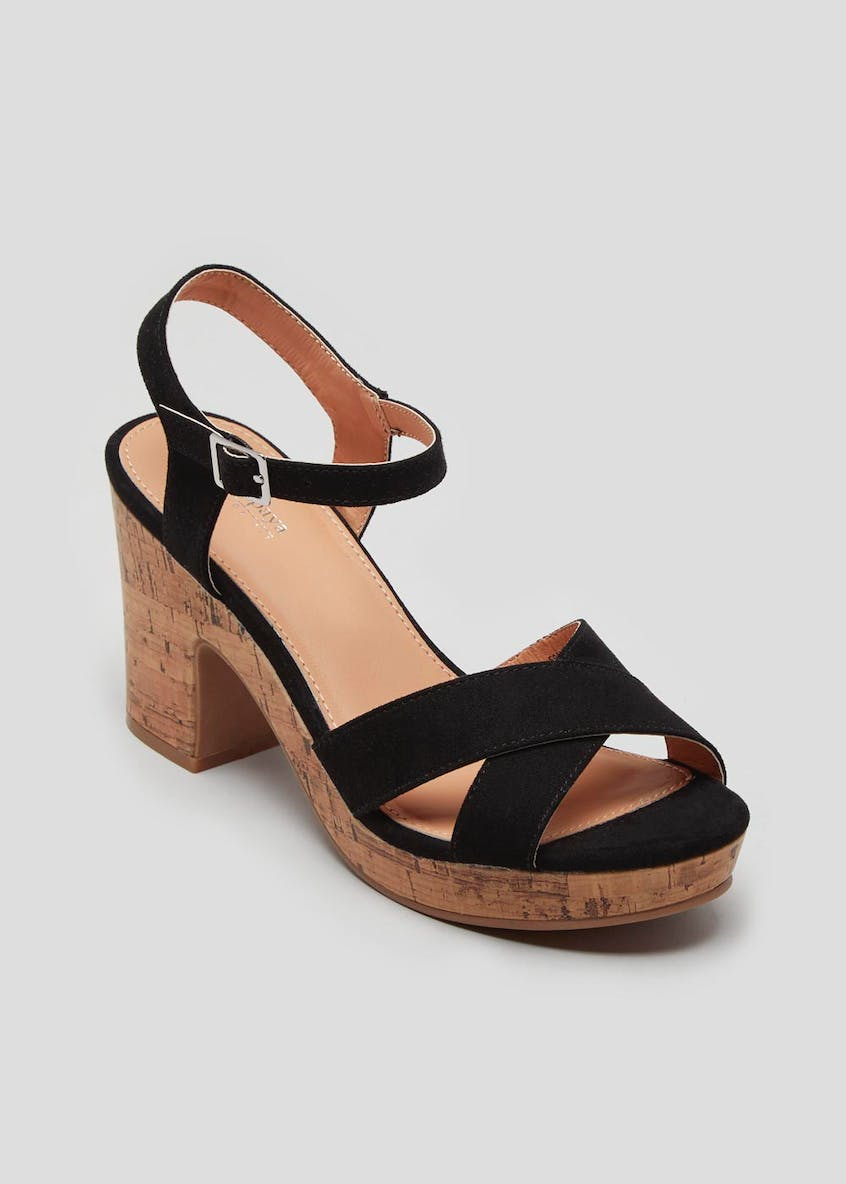 Wide Fit Cork Platform Wedges