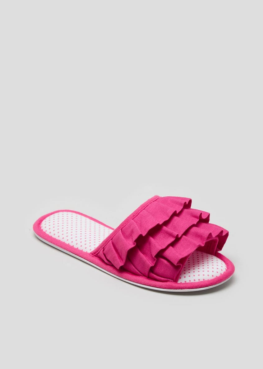 Frill Mule Slippers
