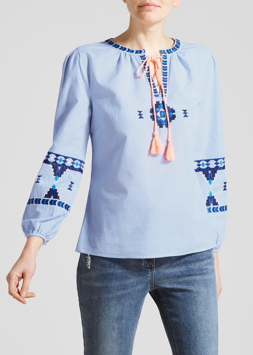 Aztec Embroidered Blouse