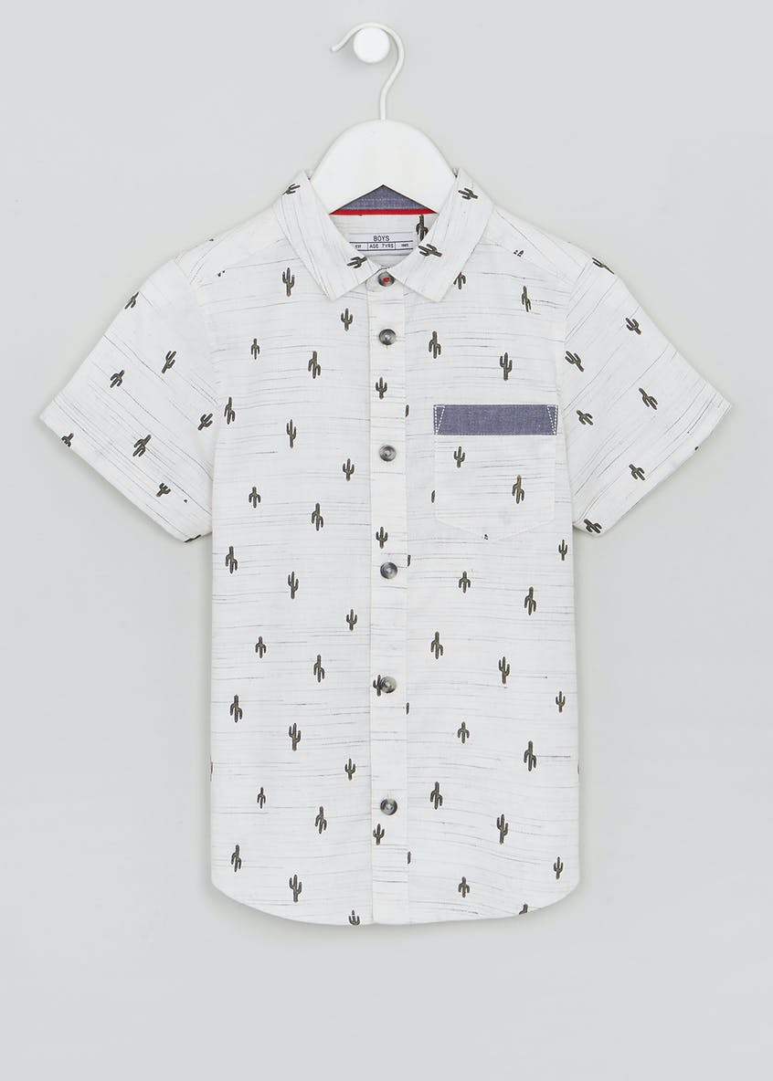 Boys Cactus Print Shirt (4-13yrs)