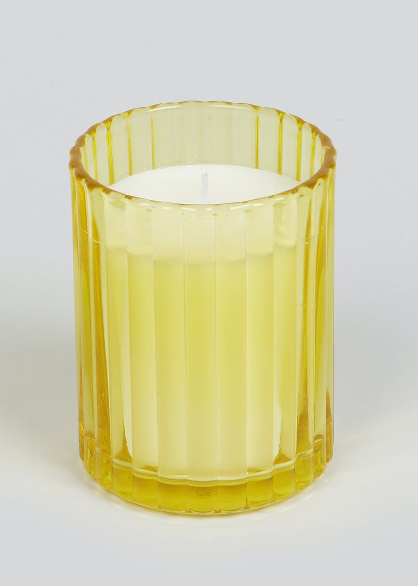 White Orchid & Vanilla Scented Glass Candle (10cm x 8cm x 8cm)