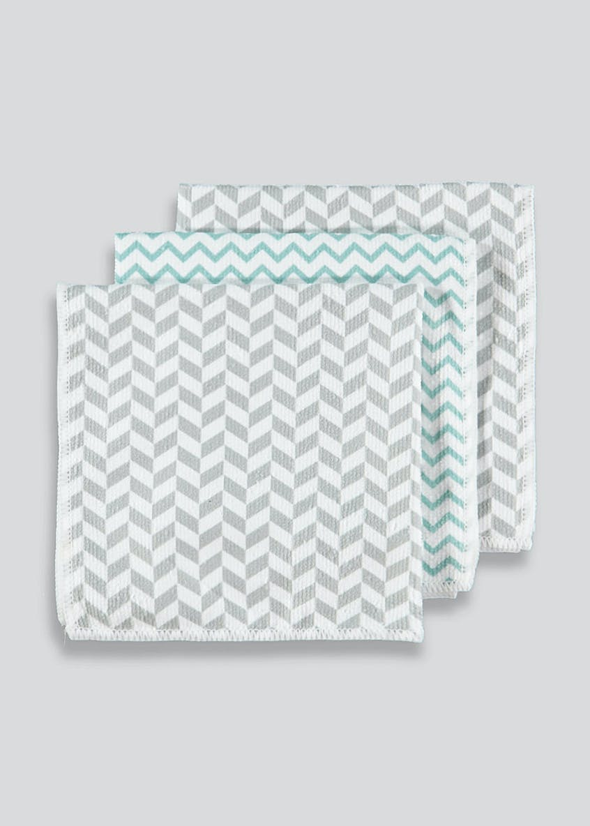 3 Pack Printed Microfibre Cloths (35cm x 35cm)