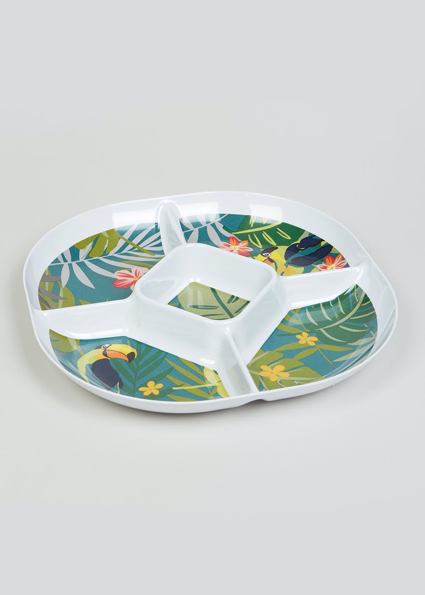 Tropical Leaf Chip and Dip Tray (30cm)