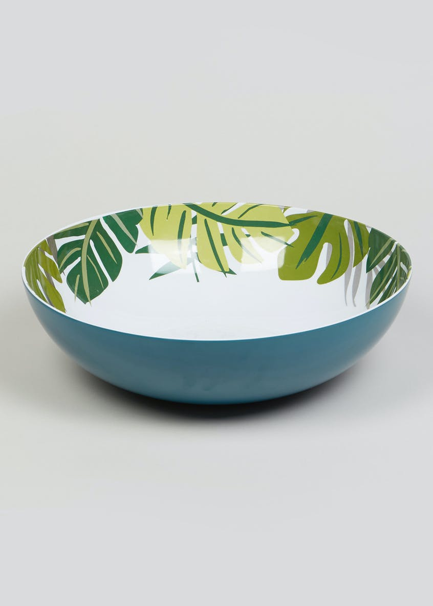 Tropical Leaf Salad Bowl (31cm x 10cm)