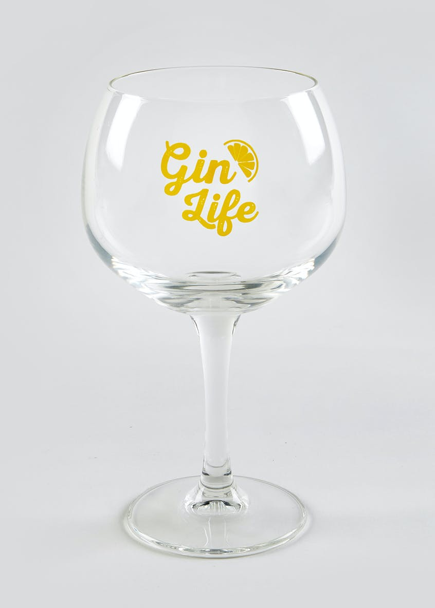Slogan Gin Glass (20cm x 11cm x 9cm)