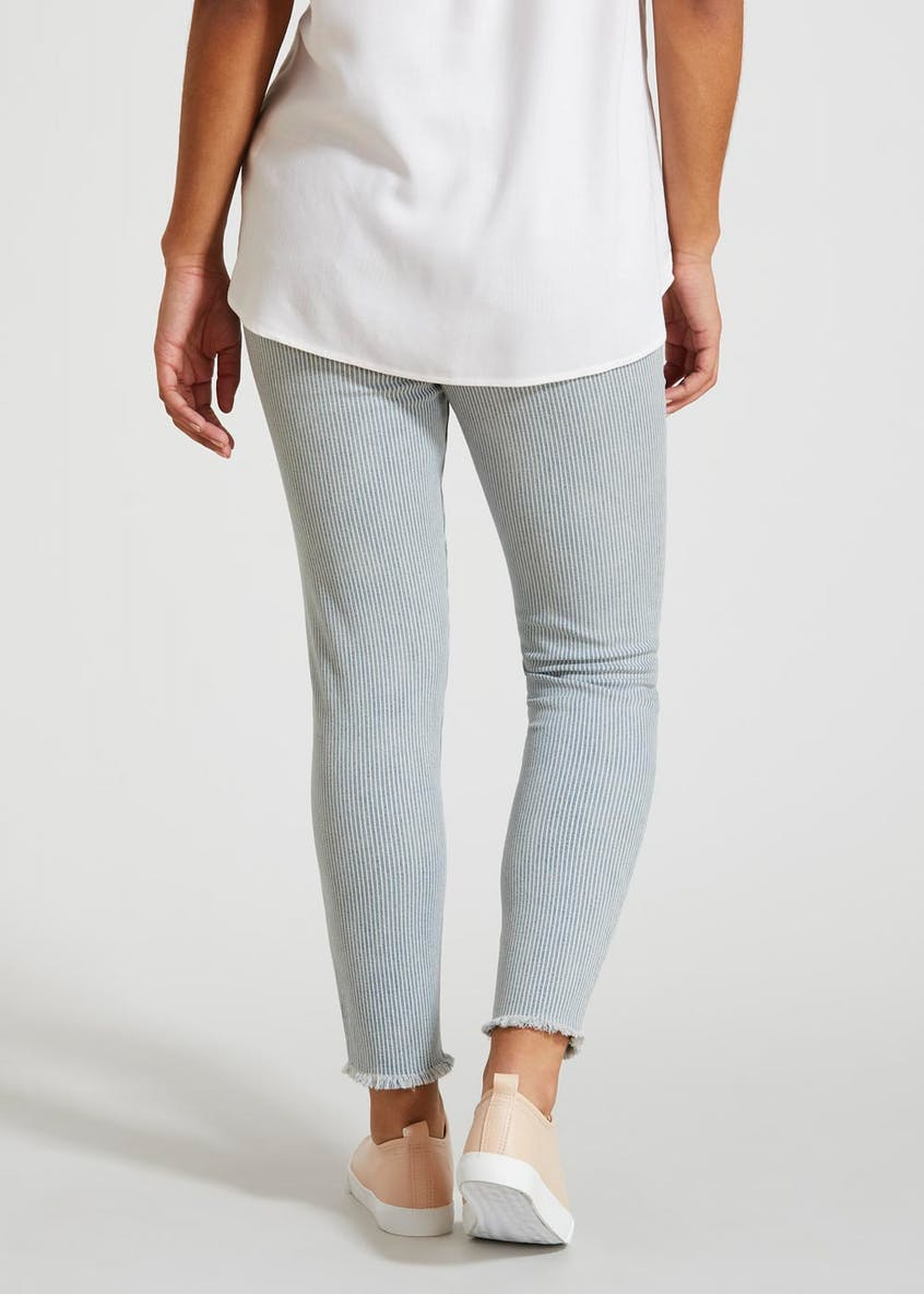 April Stripe Super Skinny Ankle Grazer Jeans