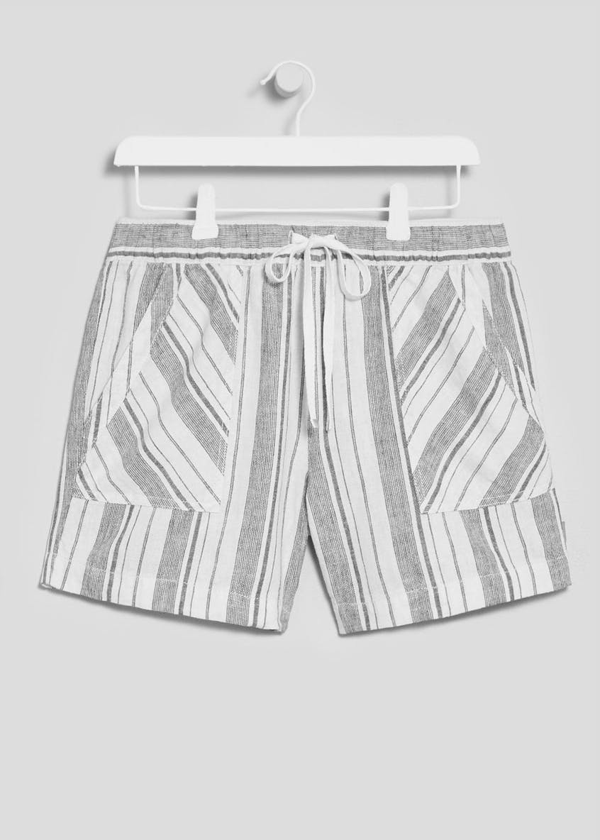 Stripe Linen Shorts