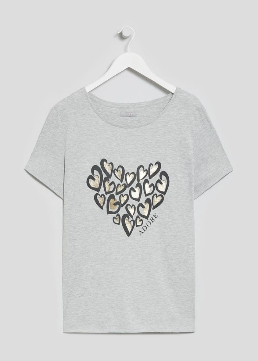 Papaya Curve Animal Print Heart T-Shirt