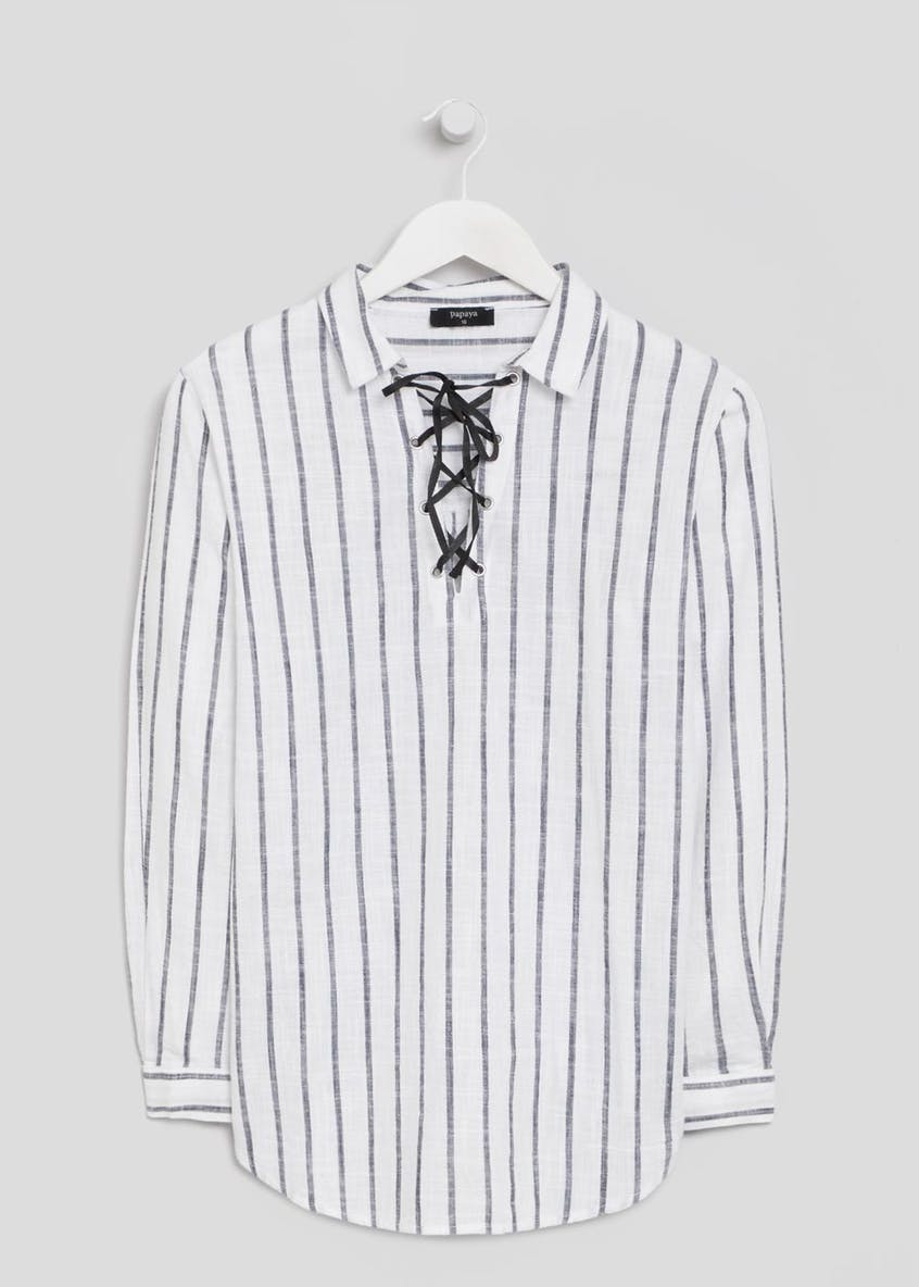 Stripe Eyelet Shirt