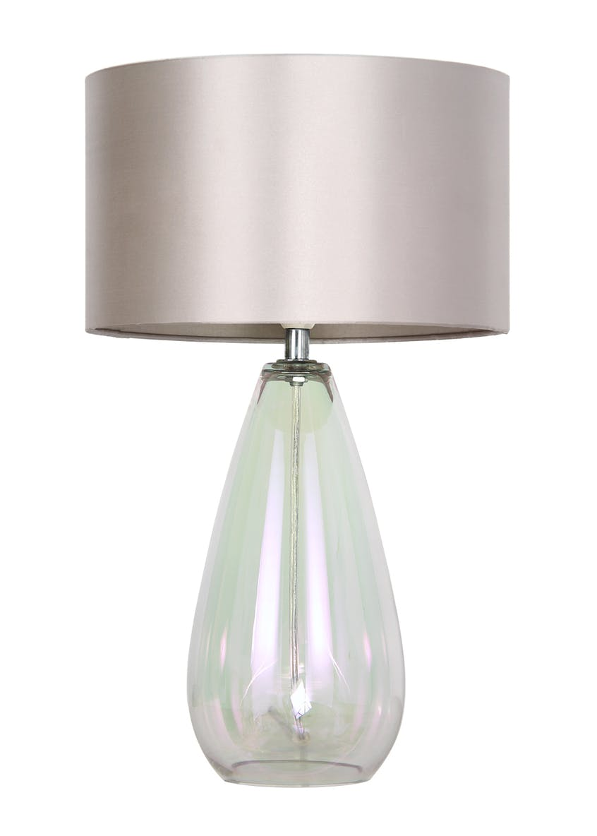 Amelia Iridescent Table Lamp (H44.5cm x W27cm)