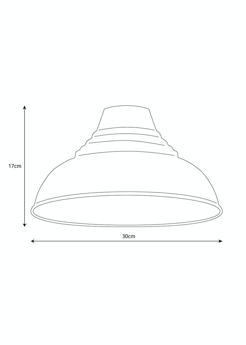 Metal Dome Shade (H17cm x W30cm)