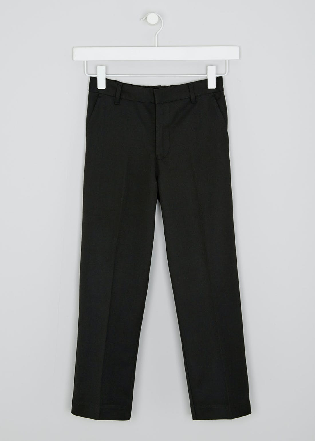 Boys Black Generous Fit School Trousers (6-16yrs)